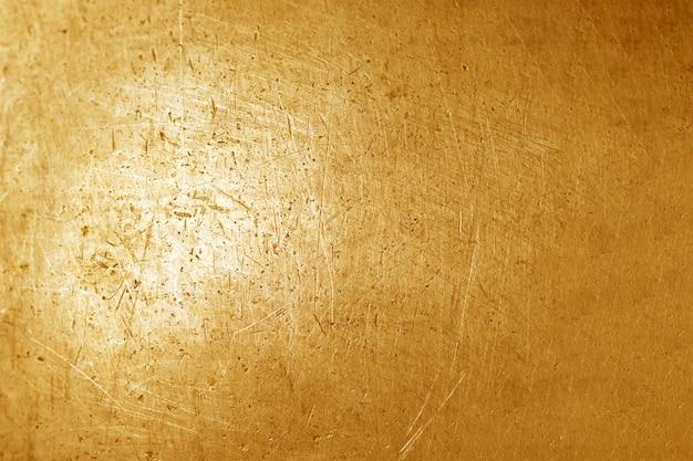 Gold grunge metal texture background