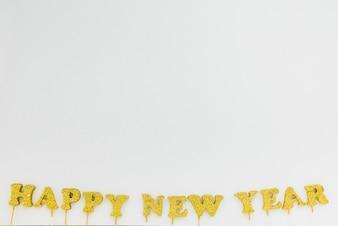 Gold happy New Year inscription