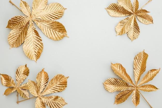 Элементы дизайна сусального золота по краю рамки