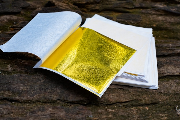 Gold leaf and empty space