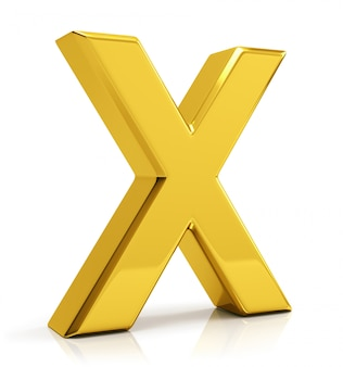 Gold letter x