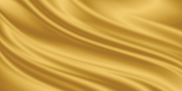 Gold luxury fabric background with copyspace