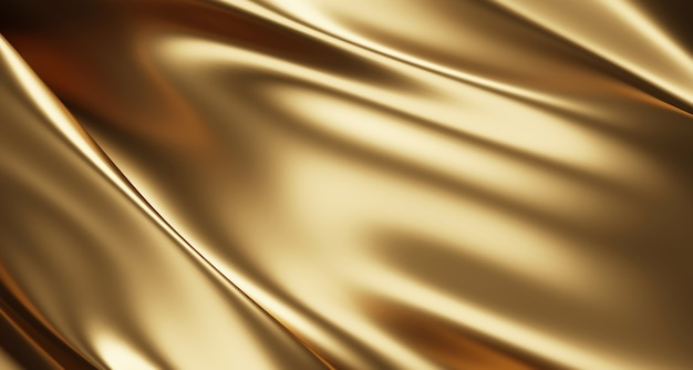 ゴールドの高級生地の背景