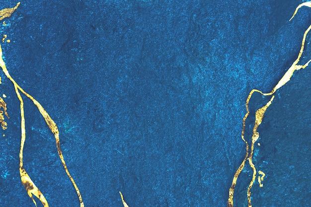Золотой мрамор на синем заднем