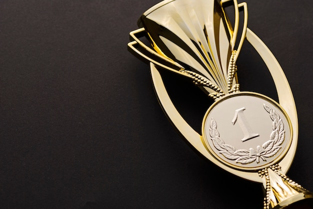 Gold medallion award for a first place or win