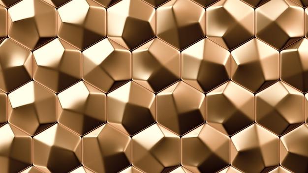 ゴールドメタルの背景テクスチャ。 3dイラスト、3dレンダリング。