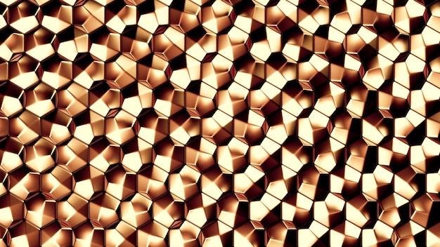 Золотой металл фоновой текстуры. 3d иллюстрации, 3d рендеринг.