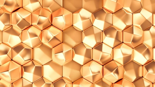 Gold metal background texture. 3d illustration