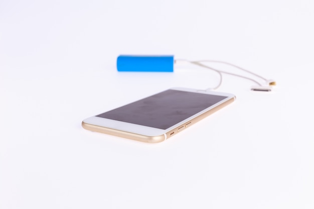Gold mobile power bank blond blue