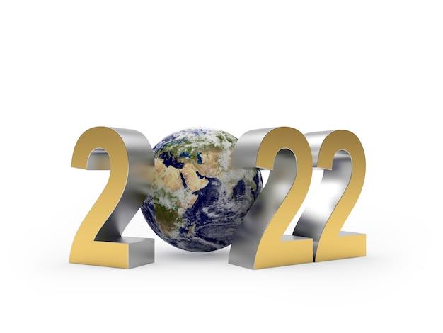 Золотой номер новый год и земной шар