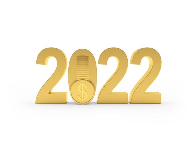 Золотой номер новый год с долларовой монетой