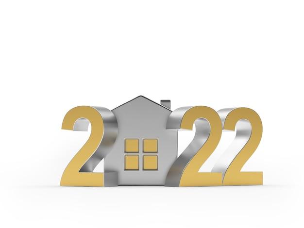 Золотой номер новый год с серебряным домом я
