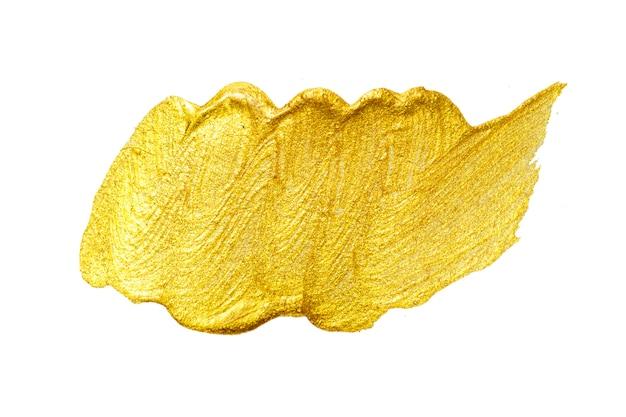 Золотая кисть мазка. абстрактный золотой сверкающий текстурированный