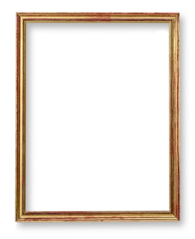 Gold painted picture frame