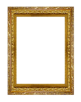 Gold picture frame. isolated on white background