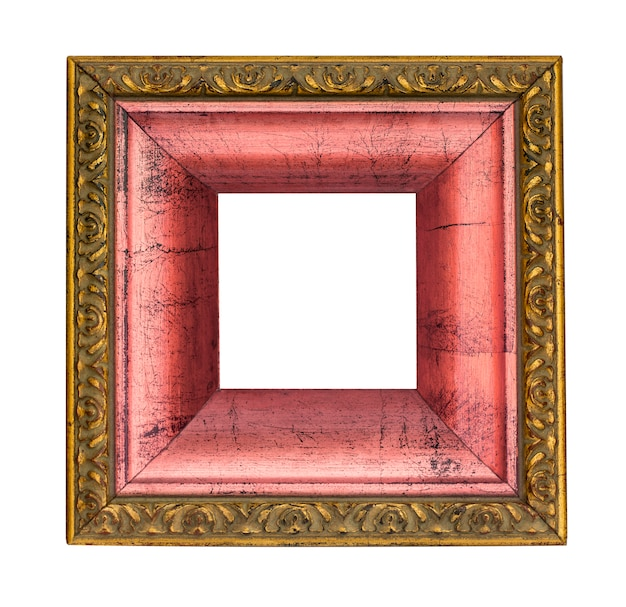 Gold and pink picture frame