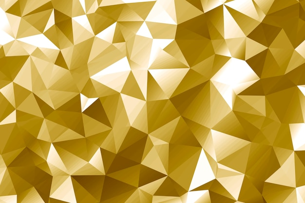 Gold polygon abstract design