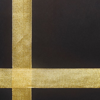 Gold ribbon on table