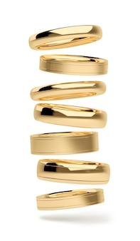 Золотые кольца падают