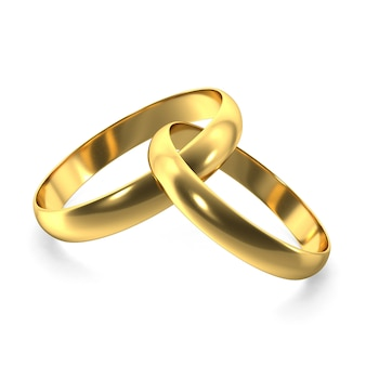 Gold rings for valentines day