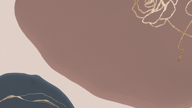 茶色のアースカラーの背景にゴールドローズ