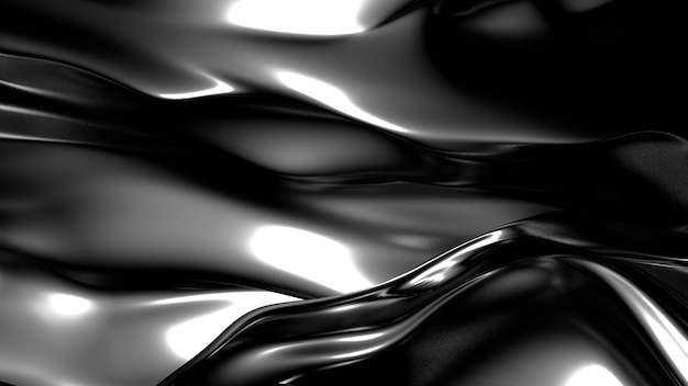 Gold silk or fabric with metallic reflexes background 3d illustration rendering
