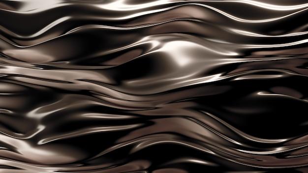 Золотой шелк или ткань с металлическими золотыми рефлексами. роскошный фон. 3d иллюстрации, 3d рендеринг.
