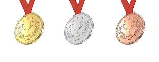 Золотые, серебряные и бронзовые медали