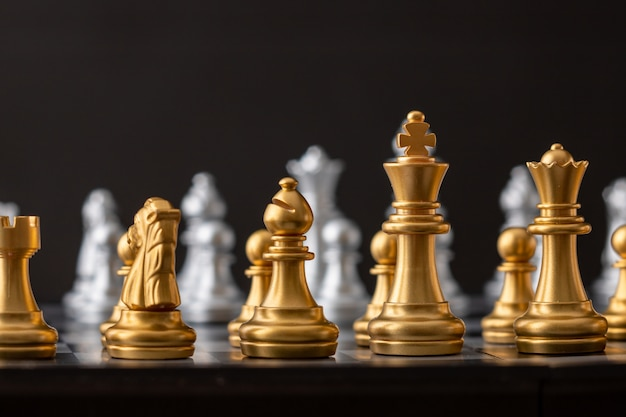 Gold and silver chess group