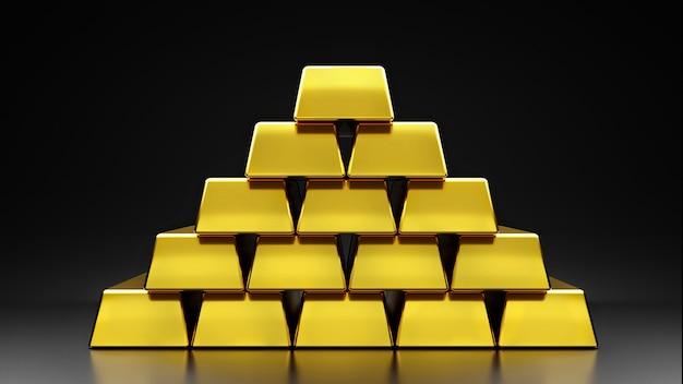 Золото сложено слоями