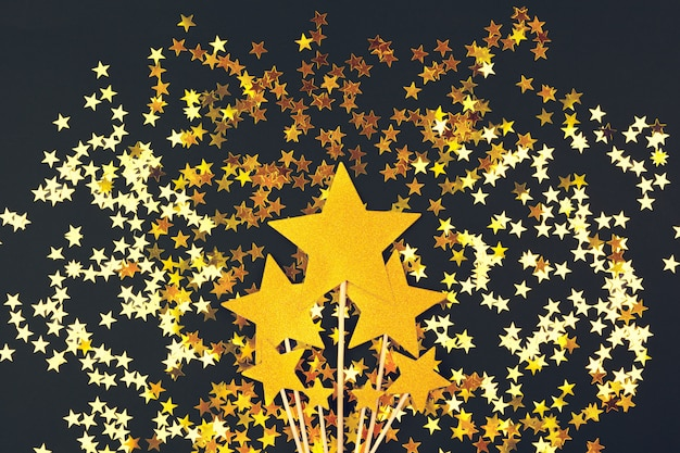 Gold star decoration
