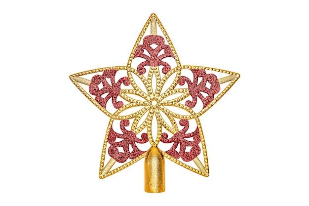 白い背景で隔離の金の星