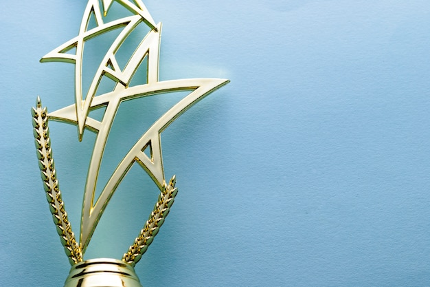 Gold star trophy for a competition winner