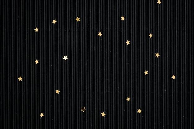 Золотой звездный блеск черный