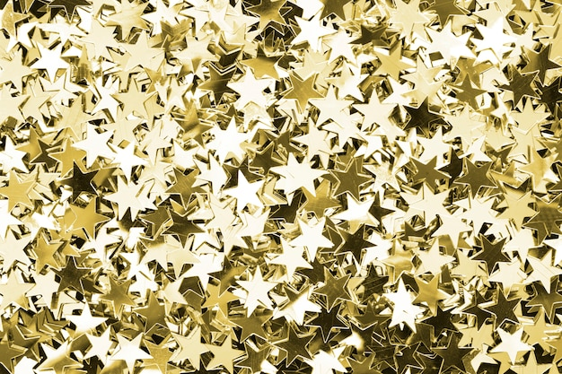 Gold stars patterned background