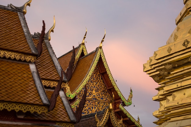 Gold temple in thailand