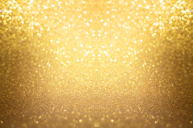 Gold texture lights background bokeh abstract