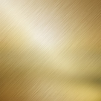 Металлический фон с золотым щеткой металлическим эффектом