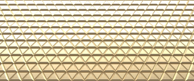 Gold tiled abstract background. triangles surface.