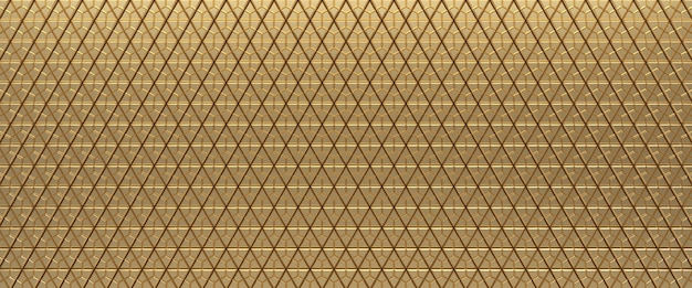 Gold tiled triangular abstract texture background. triangles surface. 3d render.