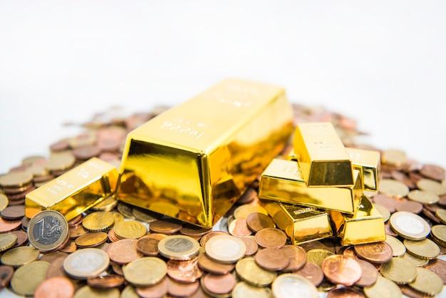 Золотая торговая концепция. абстрактное фото золота.
