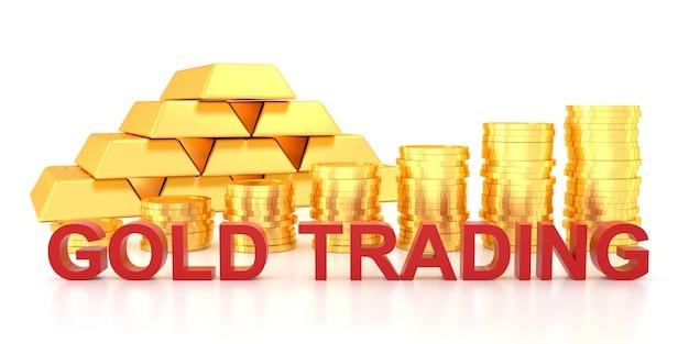 Торговля золотом для баннера сайта.