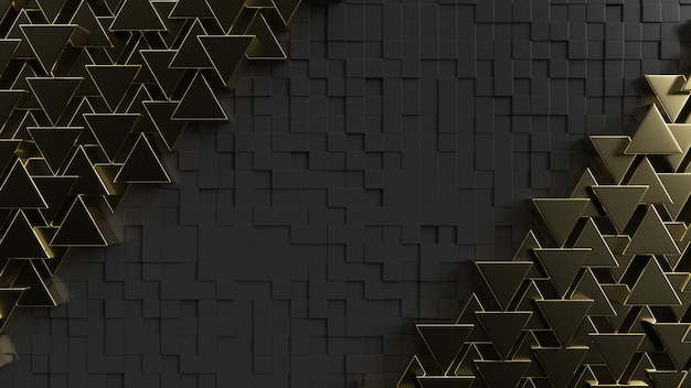 Gold triangle background texture with copy space for your text