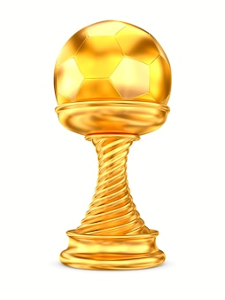 Gold trophy cup on white background. isolated 3d illustration