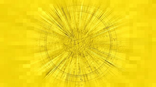 Золотой зодиак астрология гороскоп узор текстуры фона, графический дизайн
