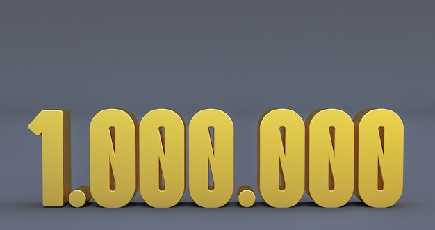 Golden 1 million number isolated