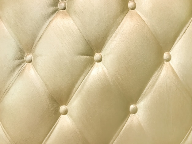 Golden 3d interior decorative wall panel with capitone pattern.