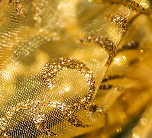 Golden abstract blur defocused background concept for new years eve christmas and happy holidays