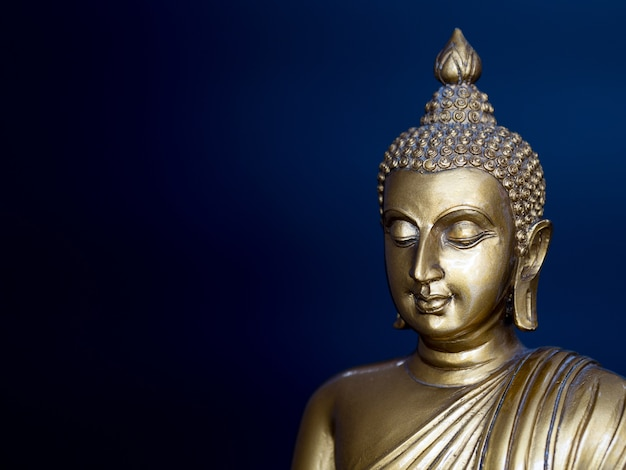 Golden antique buddha statue