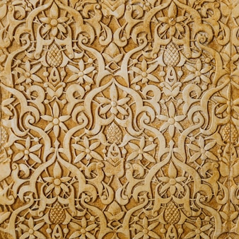 Golden arab wall texture
